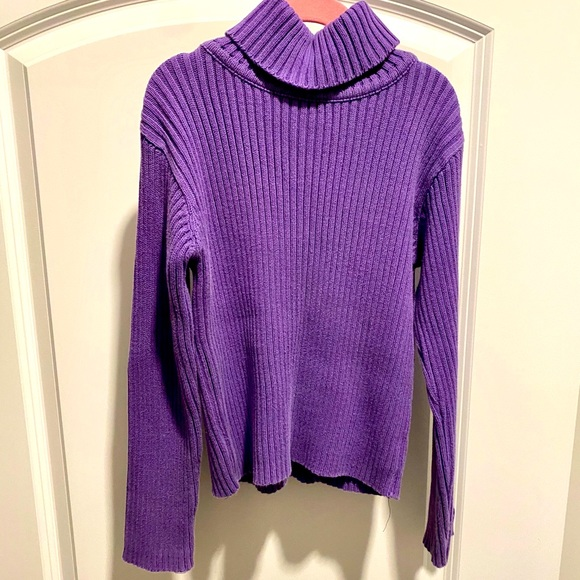 Calvin Klein Girls Purple Turtleneck Sweater (L)
